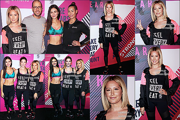 * 25/09/18 :    Ashley a assisté à l'événement « Strong By Zumba Second Anniversary » au Milk Galery à New York. Ashley a posé aux côtés de Victoria Justice et d'Ashley Greene. Elle est ravissante. J'aime bien la tenue qu'elle porte pour l'occasion. Je lui mets un Top.  *