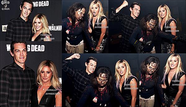 * 30/09/14 : Ashley et Christopher étaient présents à l'avent-première de la saison 5 de « The Walking Dead » . Ashley était vraiment ravissante. J'aime beaucoup ses mèches violettes, ça lui va bien je trouve. Sa tenue est très jolie aussi. Je lui donne un Top !  *