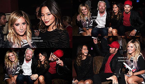 * 13/10/14 : Ashley Tisdale était présente au « Virgin America Love Field Launch Celebration  », à Dallas. Ashley était ravissante et ses cheveux sont magnifiques je trouve. Par contre je n'aime pas du tout sa tenue, ça fait très décontracté. Flop pour moi.  *
