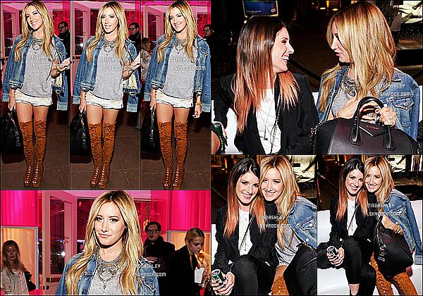 * 04/11/14 : Ashley T. s'est rendue à l'événement « Revolve Pop-Up Launch Party » - dans West Hollywood. Ashley était vraiment ravissante. Elle a posé aux côtés de son amie Shenae Grimes. J'aime énormément la tenue qu'elle porte. C'est un beau Top !  *