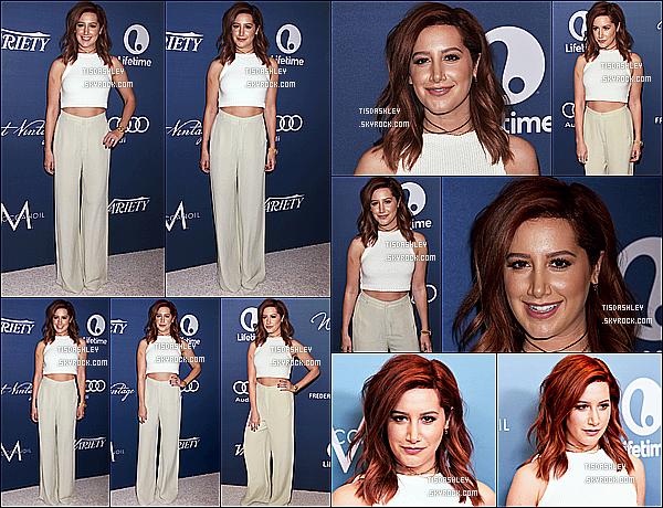 * 09/10/15 : Ashley était présente au « Variety's Power of Women Luncheon » - qui avait lieu à Beverly Hills. Ashley Tisdale est magnifique, j'aime bien son sourire. La tenue blanche qu'elle porte est jolie et lui va si bien je trouve. C'est donc un Top pour moi  *