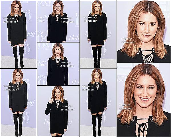 * 09/12/15 : Ashley était présente lors de l'événement « 24th annual Women in Entertainment Breakfast ». Ashley est vraiment ravissante. J'aime beaucoup sa coiffure et son maquillage. J'aime bien également sa tenue tout en noir. C'est un Top pour moi !  *