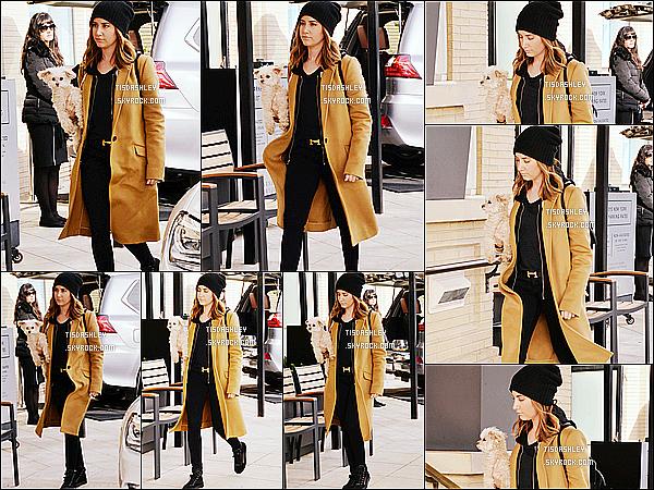 * 27/12/15 : Ashley a été vue se rendant dans les studios de « Barney's New York » -  situés dans Los Angeles. Ashley est belle mais c'est dommage qu'elle n'a pas tellement le sourire. J'aime beaucoup la tenue qu'elle porte, surtout son manteau. C'est un Top.  *