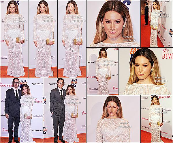 * 15/04/16 : Ashley T. était au 23ème gala de « Race To Erase MS » se déroulant à l'hôtel Hilton de Beverly Hills. Ashley était présente avec son mari Christopher. Elle était vraiment resplendissante. J'aime énormément sa tenue, elle est élégante comme ça. Top  *