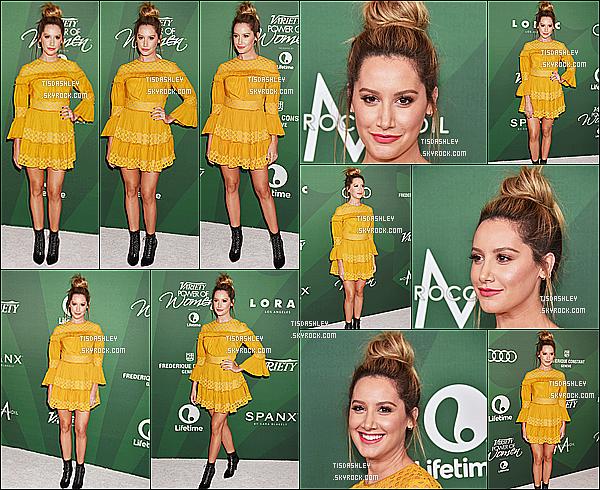 * 14/10/16 : Ashley était présente lors de l'événement de Variety « Power Of Women », se tenant à Beverly Hills. Ashley est magnifique. J'aime trop son chignon et son maquillage. La robe jaune qu'elle porte est jolie aussi, cette couleur lui va bien. C'est un Top.  *