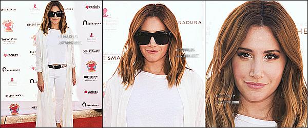 * 07/03/17 : Ashley Tisdale a assisté lors de l'événement « 13ème Annuel Desert Smash » dans Palm Spring. Ashley a participé à cet événement pour l'association St Jude Children's Hospital. Ashley est ravissante. J'aime beaucoup la tenue qu'elle porte. Top  *
