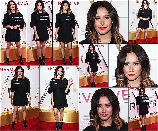 * 02/11/17 :    Ashley a assisté à la cérémonie des « REVOLVE Awards  » - qui avait lieu dans l'hôtel Dream Hollywood. Ashley est vraiment magnifique. Je suis  fan de sa mise en beauté. Son rouge à lèvres est très joli et lui va à merveille. J'aime trop aussi sa tenue. Un Top.  *
