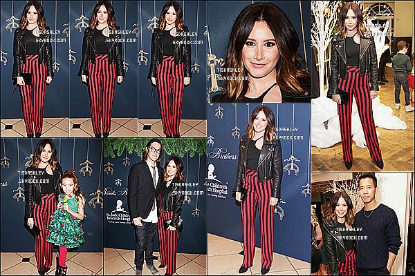 * 02/12/17 :    Ashley s'est rendue à l'événement organisé par l'hôpital «  St Jude Children's Researc », à Beverly Hills. Cet événement était organisé pour récolter des fonds pour les enfants malades. Ashley s'est investit dans une belle cause. J'aime bien sa tenue. Un Top.  *