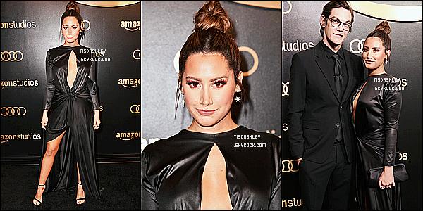* 07/01/18 :    Ashley a assisté à la cérémonie des « Golden Globes Celebration », qui se déroulait dans Beverly Hills. On a enfin des news d'Ashley ce qui fait plaisir. Elle était accompagnée de son mari Christopher. Dommage qu'il y ait peu de photos - Top pour sa tenue !  *