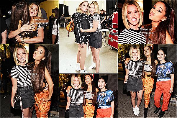 * 11/07/18 :    Ashley a assisté à l'événement, « Amazon Music Unboxing Prime Day  » - se déroulant dans New York. Ashley a posé aux côtés d'Ariana Grande. Elle est vraiment ravissante. J'aime bien sa mise en beauté. Je suis fan aussi de la tenue qu'elle porte. Un Top.  *