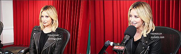 * 30/11/18 :    Ashley Tisdale était invitée dans les studios de la radio « Disney » qui se trouve à Burbank, en Californie. Pas beaucoup de photos sont disponibles. Ashley est toute ravissante. On ne voit pas entièrement la tenue qu'elle porte mais elle à l'air jolie, donc un Top  *