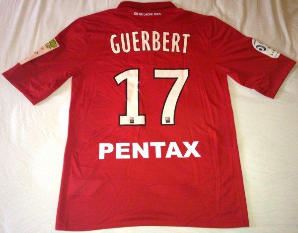 Maillot de Dijon porté par Thomas Guerbert au cours de la rencontre Dijon-Bordeaux comptant pour la 14ème journée de Ligue 1 2011-2012 (19 novembre 2011)