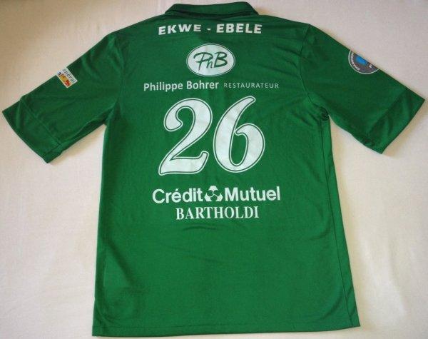 Maillot de Colmar porté par Manfred Ekwe-Ebele au cours de la saison 2012-2013 de National