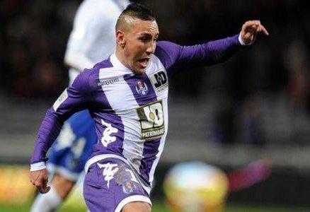 Maillot de Toulouse porté par Adrien Regattin au cours de la saison 2012-2013 de Ligue 1