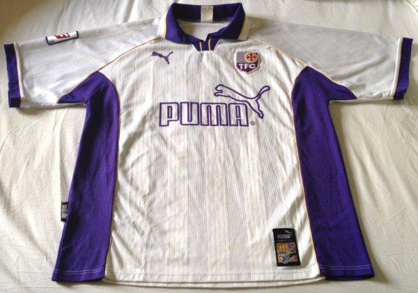 Maillot de Toulouse porté par Antoine Préget au cours de la saison 1998-1999 de Division 1