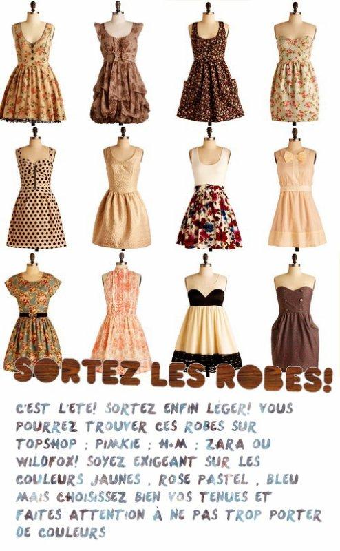 Préparez vos robes pour l'été les filles!