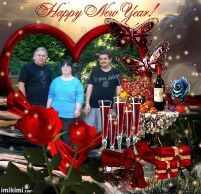 """coucou mes amies et amis ont vous souhaite plein de bonne choses bonheur et santé pour l""""an 2012 bizzzzousssss"""