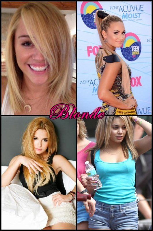 Choisi une blonde !