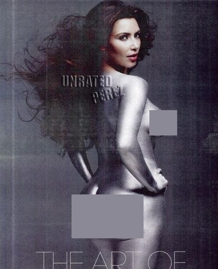 Kim pose nue pour W Magazine's Art Issue