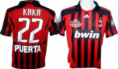 Maillot de Foot - Milan AC - Super Cup - Kaka' 22 M