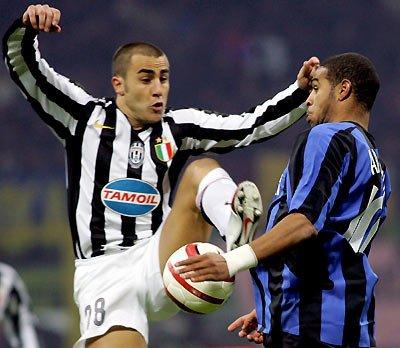 Juventus's Fabio Cannavaro  -Inter Milan's Adriano