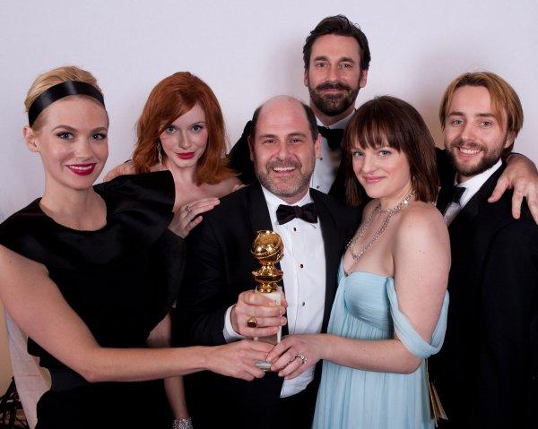 Les Golden Globes avec le génial cast de Mad Men ♥ !