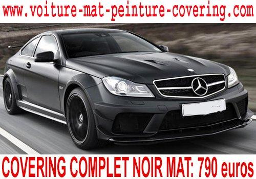 articles de voiture star foot rap tagg s mercedes classe c covering noir mat total covering. Black Bedroom Furniture Sets. Home Design Ideas