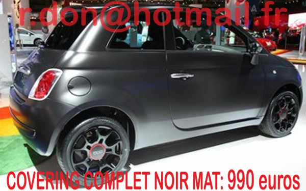 articles de voiture star foot rap tagg s fiat 500 covering noir mat total covering blanc mat. Black Bedroom Furniture Sets. Home Design Ideas