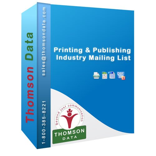 Printing & Publishing Industry Mailing List - Printing & Publishing Industry Executives List
