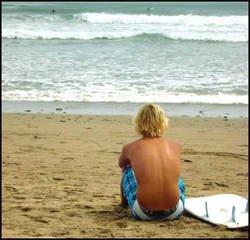 Tranquille sur la plage