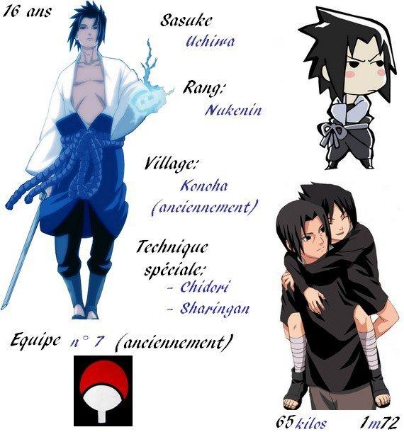 [Partie 3] NARUTO: Ninja de Konoha, UCHIWA Sasuke
