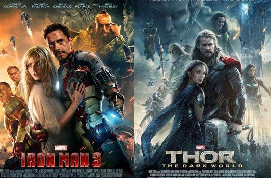 Thor copie l'affiche d'Iron Man 3