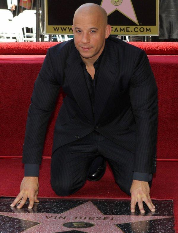 Vin Diesel a son étoile sur le walk of fame