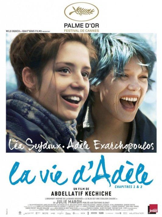 Voici l'affiche officielle de La vie d'Adèle