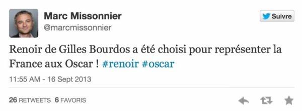 Renoir représentera la France aux Oscars 2014