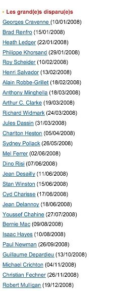 20 ans d'allociné : numéro 16, «Hors-Série 2008»