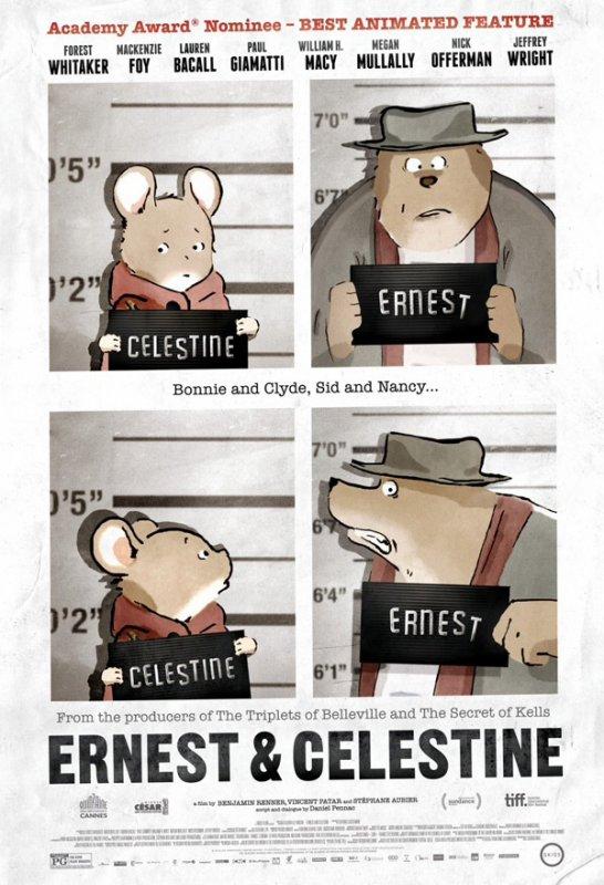 L'affiche d'Ernest et Célestine pour les Oscars 2014