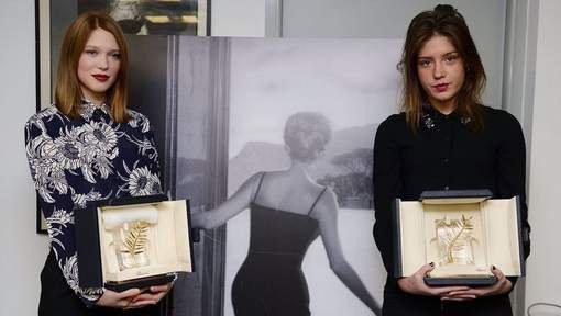 Adèle Exarchopoulos et Léa Seydoux reçoivent leurs Palmes