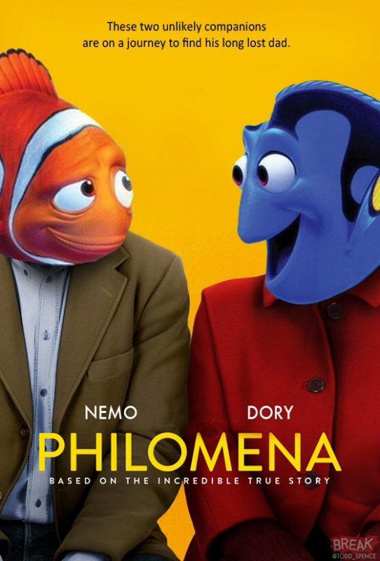 Les Héros de Pixar s'invitent aux affiches des Films nommés aux Oscars 2014 numéro 1