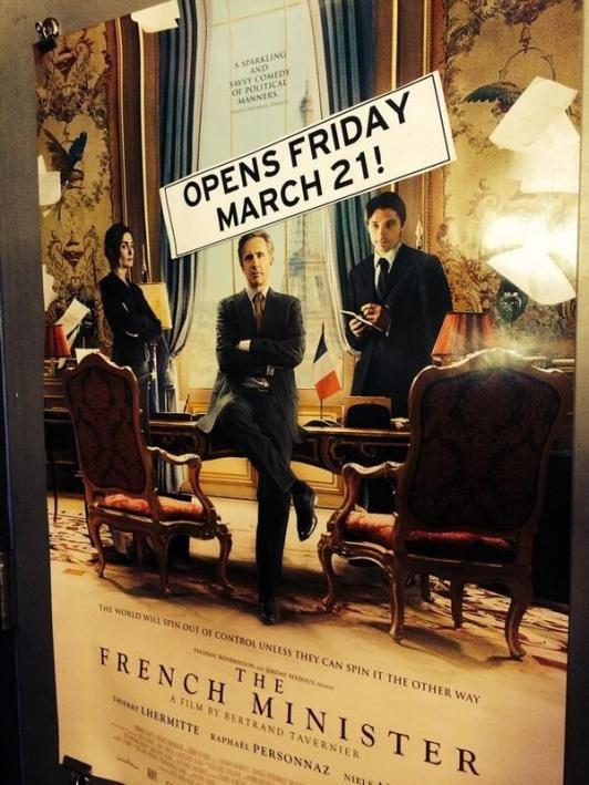 Julie Gayet : Présente sur l'affiche américaine de Quai d'Orsay