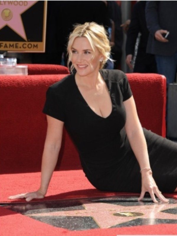Kate Winslet à son Étoile à Hollywood Boulevard