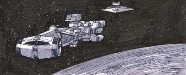 Les storyboards de «Star Wars» numéro 2