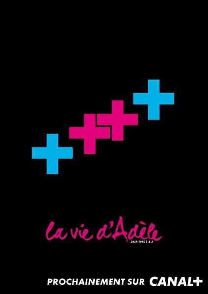 Affiche de «La vie d'Adele» version Canal +
