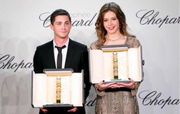 Adele Exarchopoulos et Logan Lerman, grands vainqueurs du Trophée Chopard