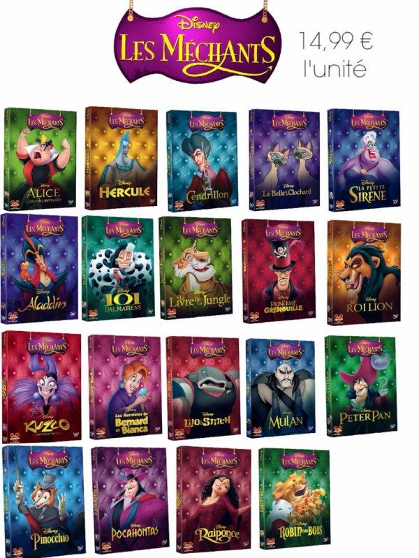 Les méchants de Walt Disney volent les affiches des nouvelles éditions de DVD