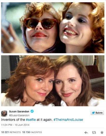 23 ans après «Telma et Louise», les deux actrices principales refont un selfie