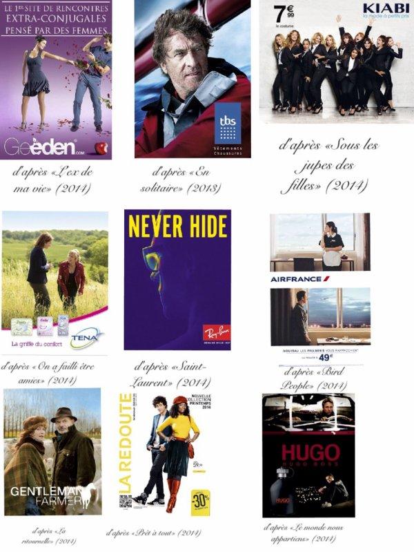 Les films s'affichent en publicité numéro 1