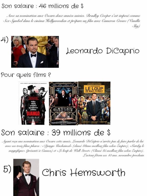 Les acteurs les mieux payés d'Hollywood (2013-2014)