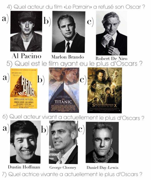Cahier de vacances spécial cinema : Numéro 3, Les Oscars