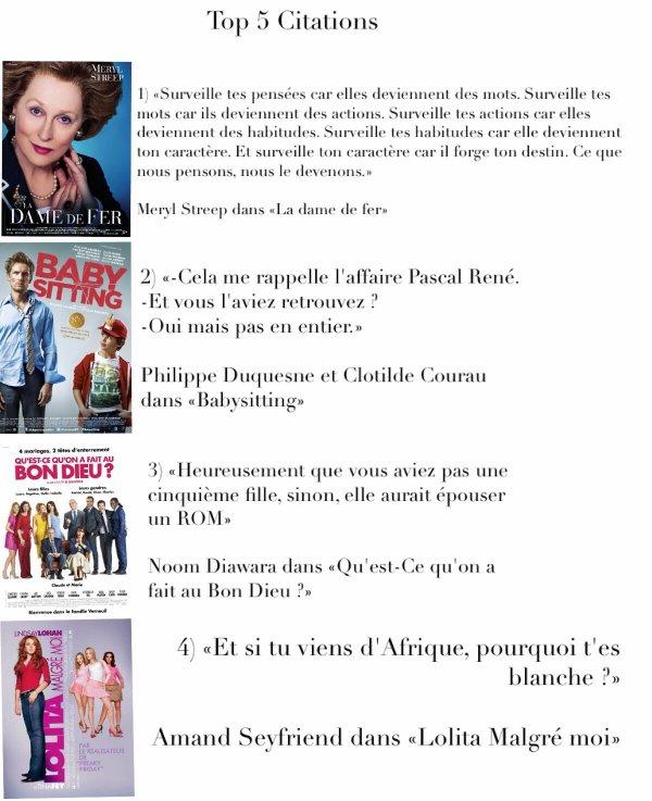 Tag cinema n°2 : Top 5 citations